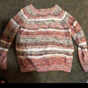 Sweaters - Pink striped sweater